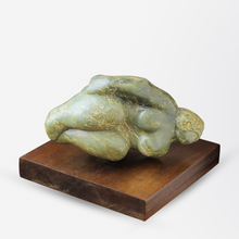 Load image into Gallery viewer, Green Soapstone Inuit Carving of a Woman