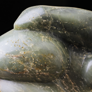 Green Soapstone Inuit Carving of a Woman