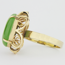 Load image into Gallery viewer, 14k Gold, Nephrite Jade Ring