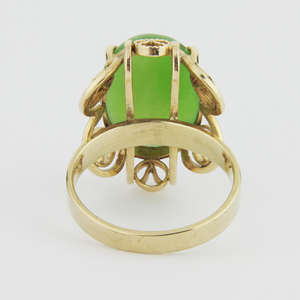 14k Gold, Nephrite Jade Ring