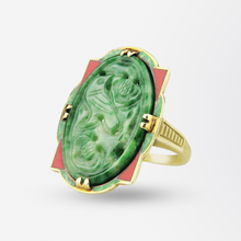 Load image into Gallery viewer, Jade Art Deco Ring