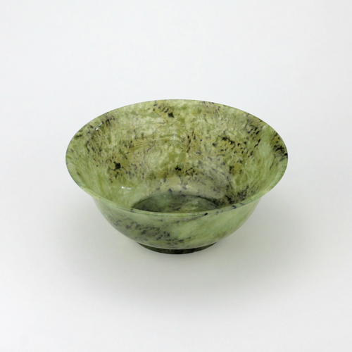 Carved Nephrite Jade Bowl - The Antique Guild
