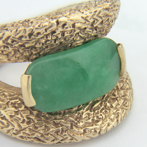 14k Yellow Gold and Jade Ring - The Antique Guild