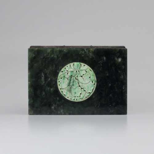 Japanese Carved Jade Box - The Antique Guild