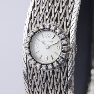 Jaeger Le Coulture 18k White Gold & Diamond Watch