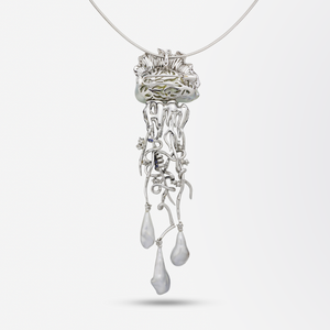'Jellyfish' Brooch Necklace by Alessio Boschi for Autore