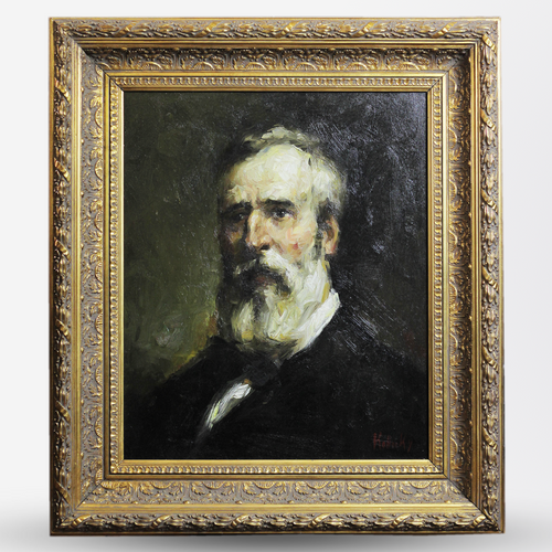1920s Impressionist Portrait of Bearded Gentleman - The Antique Guild