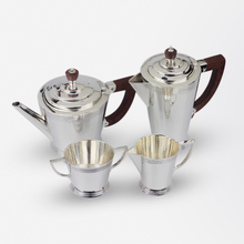 Load image into Gallery viewer, Art Deco Sterling Silver Tea & Coffee Set