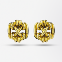 Load image into Gallery viewer, Retro 18kt Gold Knot Ear Clips