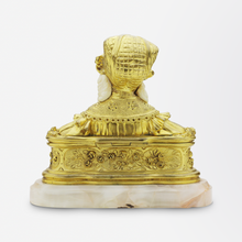 Load image into Gallery viewer, French Ormolu, Ivory, and Alabaster Hinged Box