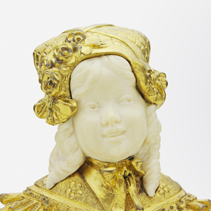 French Ormolu, Ivory, and Alabaster Hinged Box
