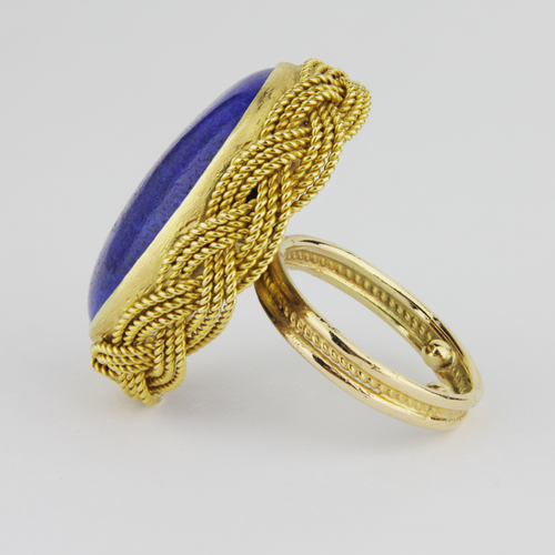Gold and Lapis Ring