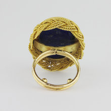 Load image into Gallery viewer, Gold and Lapis Ring