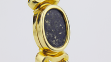 Load image into Gallery viewer, 18kt Gold Greek Lapis Lazuli Bangle