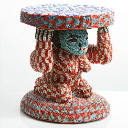 Beaded Bamileke Prestige Stool - The Antique Guild