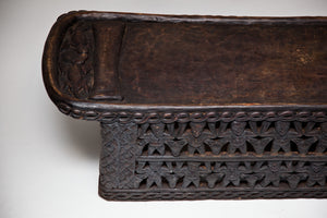 West African Carved Bed by the Bamileke People - The Antique Guild