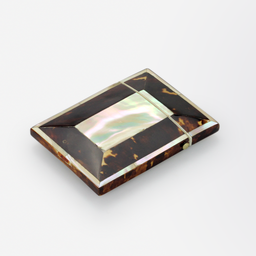 Victorian Tortoiseshell and Mother of Pearl Card Case