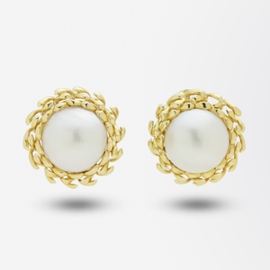 18kt Gold Mabe Pearl Earrings