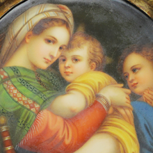 Load image into Gallery viewer, 19th Century Italian Painted Porcelain 'Madonna Della Seggiola'