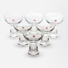 Load image into Gallery viewer, Set of Six Martini Cocktail Glasses