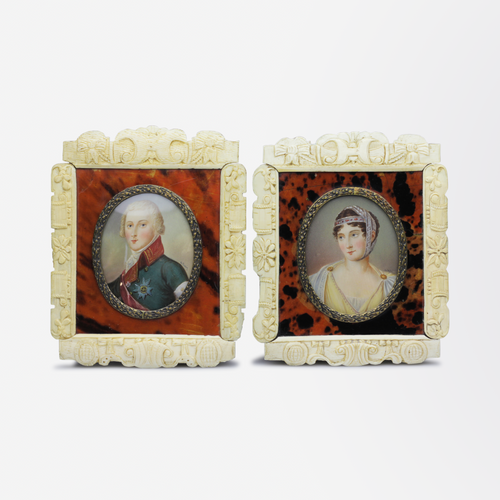 Pair of French Miniature Portraits