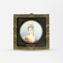 Load image into Gallery viewer, Hand Painted Miniature Portrait by Ginet