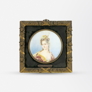 Hand Painted Miniature Portrait by Ginet