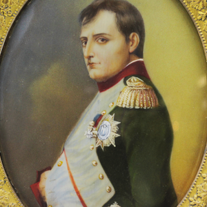 French Miniature Portrait of Napoleon