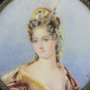 Hand Painted Miniature Portrait by Ginet - The Antique Guild