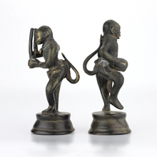Load image into Gallery viewer, Pair of Indian Bronze Monkey Figures - The Antique Guild