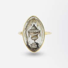 Load image into Gallery viewer, Georgian Mourning Ring in Original Box