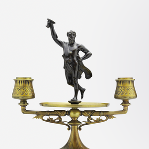 Pair of Austrian Brass Candlesticks