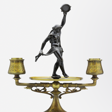 Load image into Gallery viewer, Pair of Austrian Brass Candlesticks