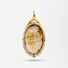 Load image into Gallery viewer, 14kt Gold Pendant with Enamelled Portrait and Diamonds