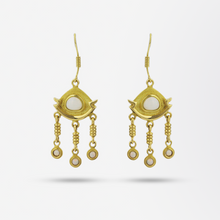 Load image into Gallery viewer, Gold and Opal Earrings