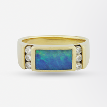 Load image into Gallery viewer, Diamond & Opal Ring