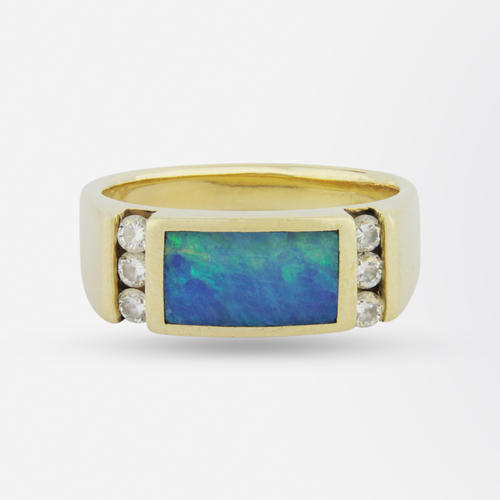 Diamond & Opal Ring