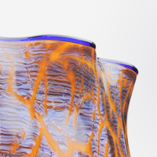 Load image into Gallery viewer, Art Deco Orange and Cobalt Vase by Loetz