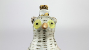 Porcelain Owl Scent Bottle - The Antique Guild