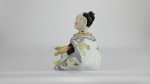 Porcelain Nodding Pagoda Figure by Camille Naudot - The Antique Guild