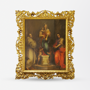 19th Century Madonna delle Arpie Oil Reproduction