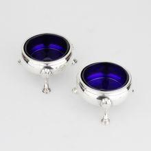 Load image into Gallery viewer, Pair of Georgian Silver Salt Cellars