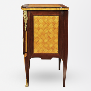 Louis XVI Mahogany, Parquetry Kingwood and Ebony Commode