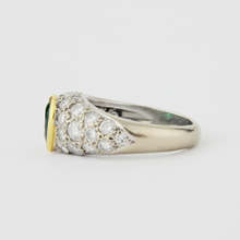 Load image into Gallery viewer, Platinum, Diamond and Emerald Ring - The Antique Guild