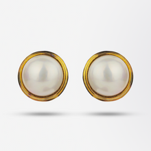 Load image into Gallery viewer, 18kt Mabe Pearl Earrings by Cellino