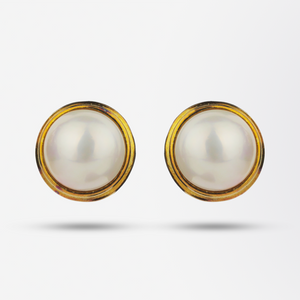 18kt Mabe Pearl Earrings by Cellino