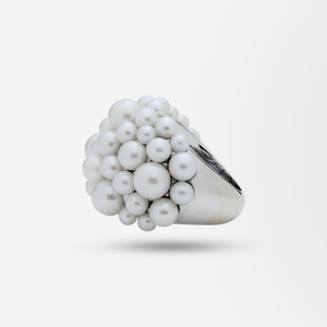 18kt White Gold Mimi Milano Pearl Dress Ring