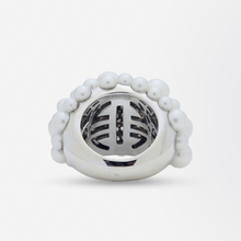 Load image into Gallery viewer, 18kt White Gold Mimi Milano Pearl Dress Ring