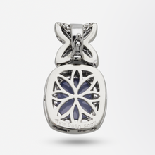 Load image into Gallery viewer, 18kt White Gold, Diamond, Sapphire and Chalcedony Pendant Enhancer