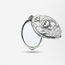 Load image into Gallery viewer, Art Nouveau Silver Pendant with Lilies